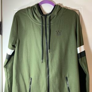 Olive green PINK zip up